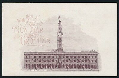 New South Wales 1898 1½d Postcard General Post Office UPU RARE!