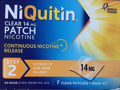 NiQuitin Clear 14mg Step 2 Patches x 7, 1 week