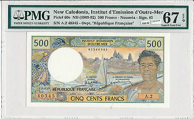 PM0054 New Caledonia 1969 ~92 500 Francs combine shipping