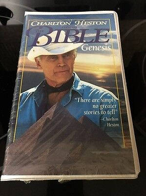 Still Sealed Clamshell CHARLES HESTON presents The BIBLE GENESIS VHS