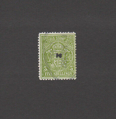 Victoria Stamp Duty - Five Shillings