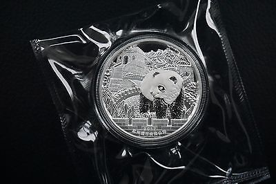 China 2017 Shenyang Panda Lunar Rooster Great wall 62g Silber silver Ag Box, COA