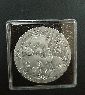 China 2014 2nd Panda Coin Expo 1 Oz Silber silver Ag Antique Mintage 99 +Box COA