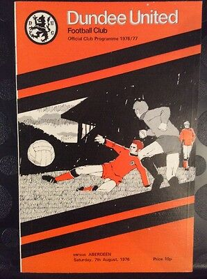 Dundee United v Aberdeen Anglo Scottish Cup 7th August 1976