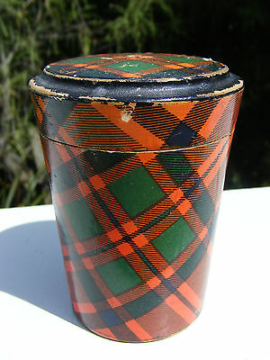 Mauchline Tartan Ware glass or nip holder - MacIntosh Tartan