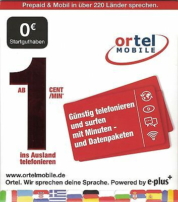 German Mobile prepaid SIM card Eplus / o2 network -internet cheapest Allnet Flat