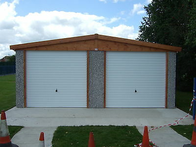 Concrete Garage Double Apex Pe Postcode Price Delivered And Fitted