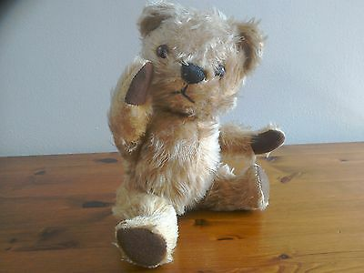 Antique Bear. Chad Valley. Chiltern. Mohair. Jointed. Squeaker.