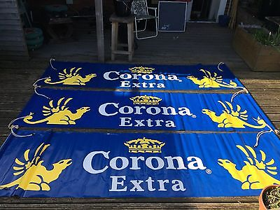 Corona Advertising Banner (2000 onwards, now rare & collectable) NEW