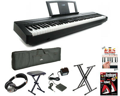 Yamaha P45 Digital 88 Weighted Key Stage Piano Mega Package (P-45 P 45)