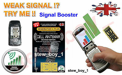 2 Generation X Mobile Phone Antenna Signal Booster + My Novelty Comp Slip