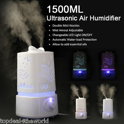 Ultrasonic Air Mist Humidifier Diffuser Purifier Aroma Nebulizer LED Light NEW