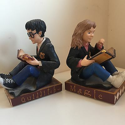 Set of 2 Harry Potter & Hermione Granger Bookends WHSmith 2001