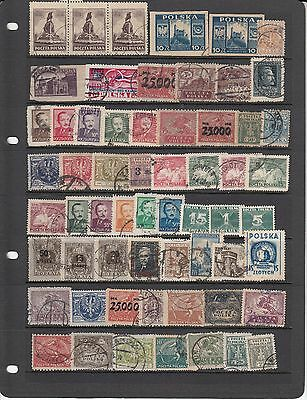 Poland Early stamp collection Imperfs, overprints etc