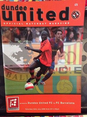Dundee United v FC Barcelona Friendly 26th July 2008