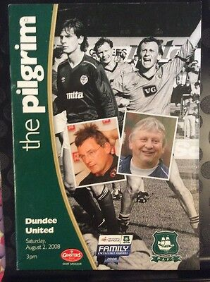 Plymouth Argyle v Dundee United Friendly 2nd August 2008