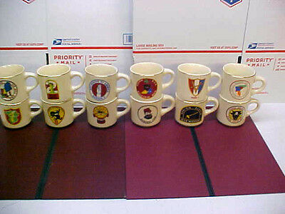 Vintage Boy Scout of America BSA Complete Set of Region 1 ~ 12 Mugs Cups