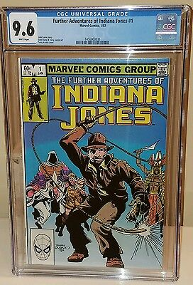 Further Adventures of Indiana Jones # 1 CGC 9.6 John Byrne WHITE Pages Raiders