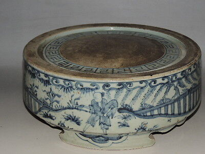 Rare Chinese  porcelain blue&white An ink stone with figure