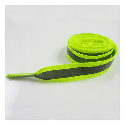 110cm REFLECTIVE HIGH VISIBILITY 10mm RUNNING SHOE LACES HI-VIS DARK JOGGING 605