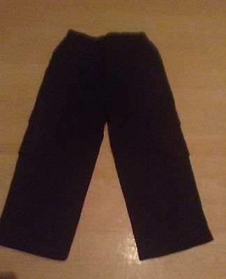Boys black combat style trousers age 3/4