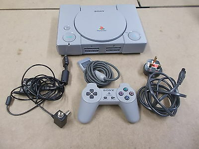 PS1 Sony Playstation 1 Grey Pal SCH-5552 COMPUTER CONSOLE (38)