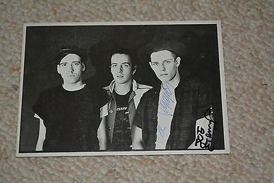 THE CLASH signed Autogramm In Person JOE STRUMMER & PAUL SIMONON