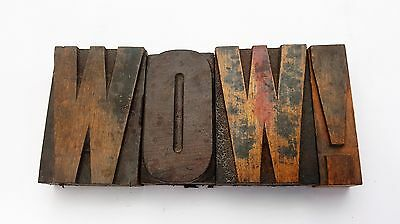 Vintage Wooden Printing Blocks. 75mm Alphabet, Punctuation, Large Pointing Fist.