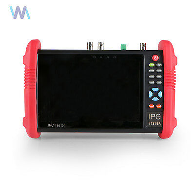 "IPC9800ADH 7"" Touch Screen HD 1080P TVI CVI AHD CVBS IP Cam CCTV Tester USA"