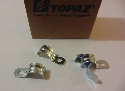 Topaz 1/2'' EMT One Hole Steel Conduit Straps Box of 100 (NEW)