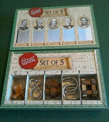 Professor puzzle 'Great Minds' set of 5 puzzles (new).