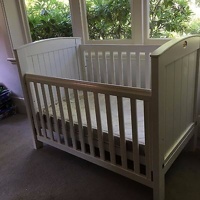 Boori Country collection White cot & mattress