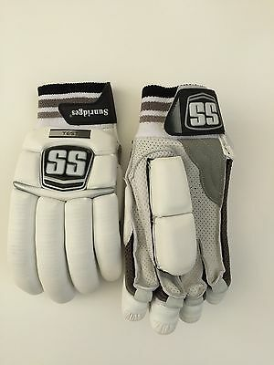SS TON TEST LIMITED EDITION Cricket Batting Gloves: Brand New Chrome and Silver