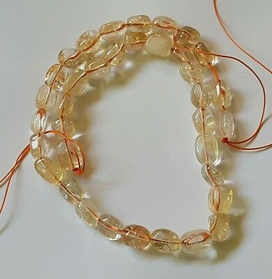 40cm strand of citrine nuggets