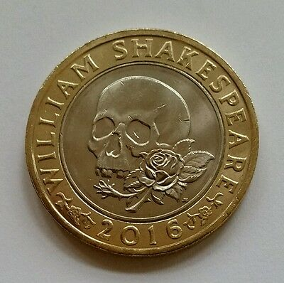 2016 William Shakespeare Macbeth And Skull Tragedies Two Pound Coin £2