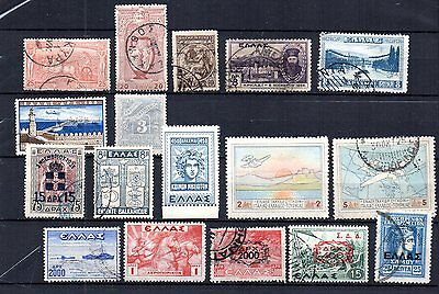 Greece Selection Of 17 Older, Better Stamps. Unused, Hinged & Postally Used.