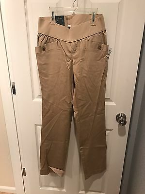 NWT Old Navy Maternity Stretch Tan Dress Pants Size Small, Low Rise Waist