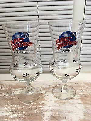 2 Planet Hollywood Comet glasses from Las Vegas