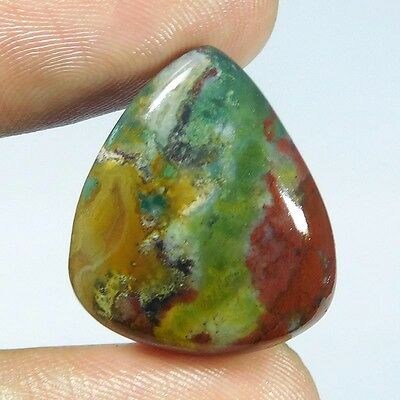 22.8Cts 100% NATURAL LOVELY BLOOD STONE PEAR 25X21 LOOSE CAB GEMSTONE UJ286