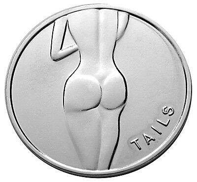 Lady Luck Heads & Tails Good Luck Silver-Mirror Challenge Coin  Gift for Men!