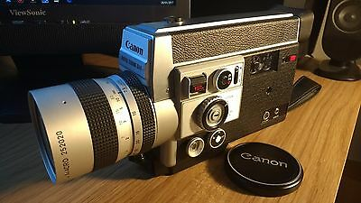 Canon Auto Zoom 814 Electronic Super 8 Film Movie Camera-Perfect Working Order!
