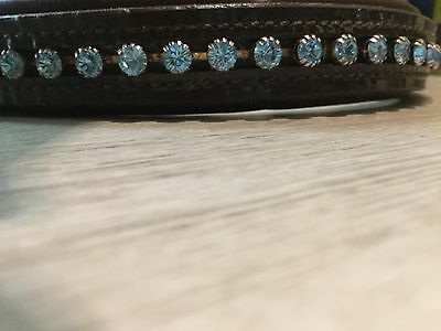 STUNNING CRYSTAL BROWBAND SUPERB CONDITION FULL/EXTRA FULL 44 1/2cm. WORN ONCE!!