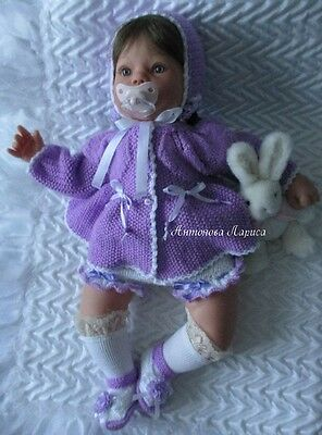 "Very nice outfit ""Lilac flower"" for dolls   20-22 inches ( outfit only!)"