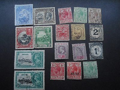 Grenada,17 Fine Used,1 M/m,early Qv To Geo V. 35,silver Jubilee, 2 Postage Due,s
