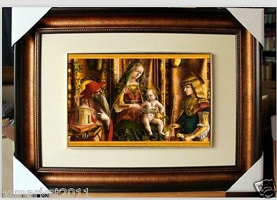Catholic Church Portrait Jesus Cross Christian Blessed Cloth Frame Pretty Gift U