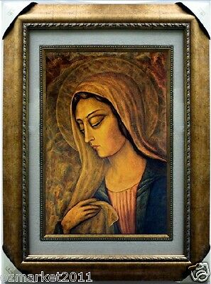 Catholic Church Portrait Jesus Cross Christian Blessed Cloth Frame Decoration Z