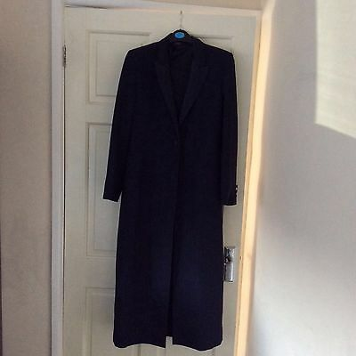 Marks And Spencers Womens Long Navy Blue Evening Jacket Size  8
