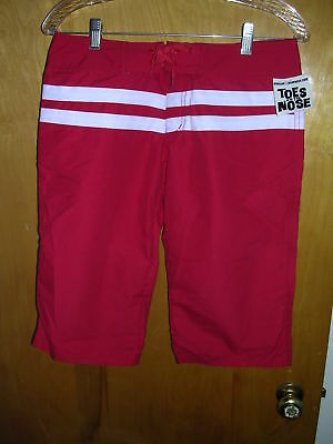 NWT Toes on Nose Digger Board Capris Shorts Sz 5 red