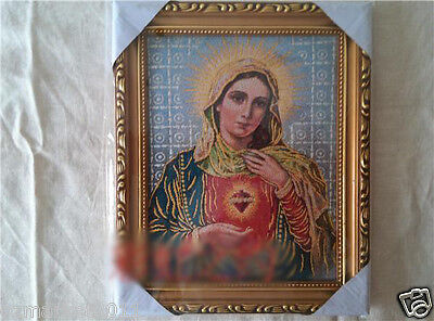 Catholic Church Portrait Jesus Cross Christian Blessed Weaving Photo Frame Gift