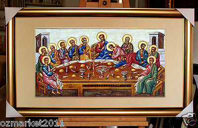 Catholic Church Portrait Jesus Cross Christian Blessed Cloth Frame Decoration L